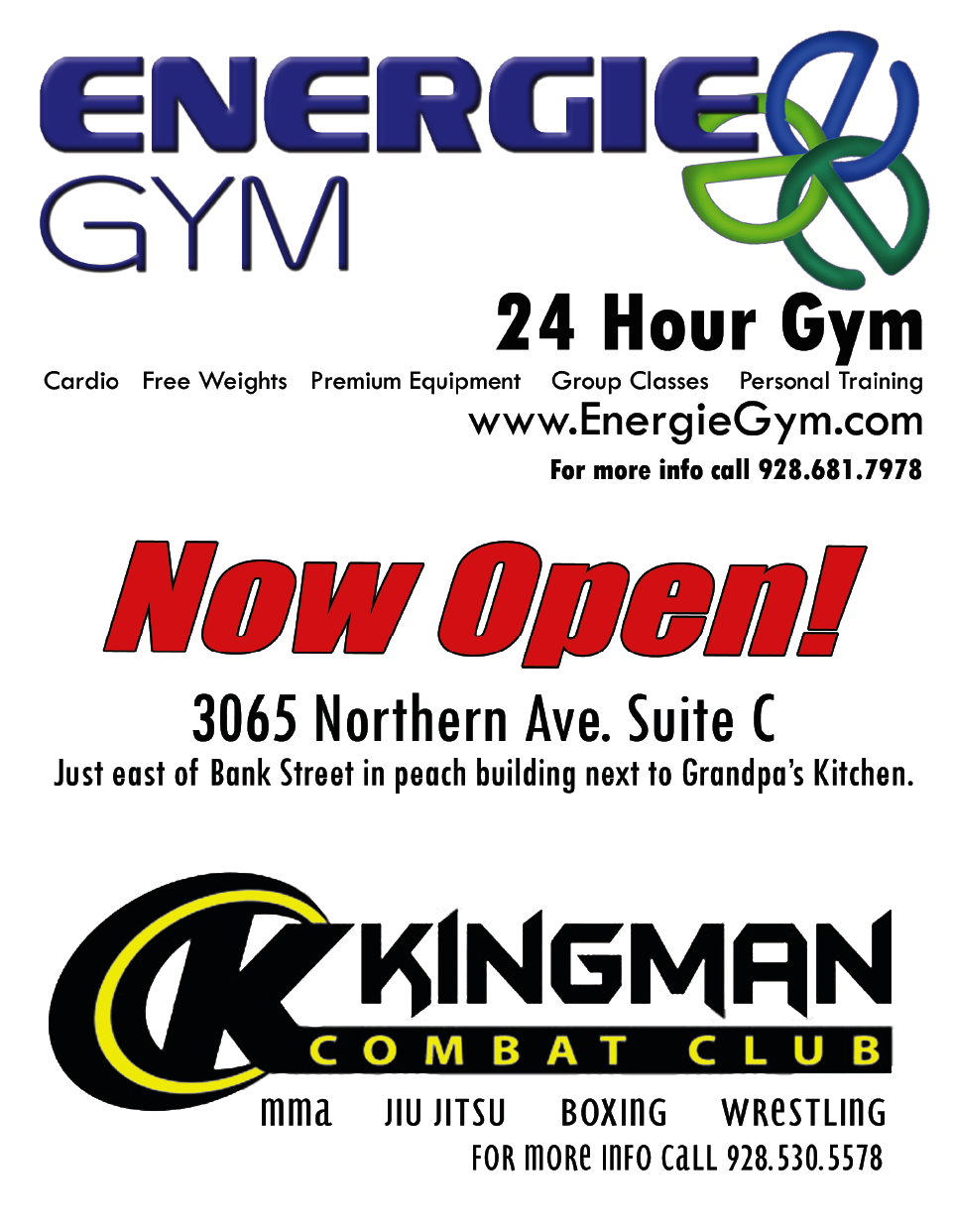 Energie Gym & Kingman Combat Club | thekingmanrealestateguy
